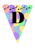 Pastel Music-Themed Banners A-Z, 0-9