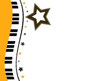 Music Themed Certificate Template (Piano)