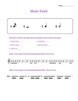 Music Theory Exam