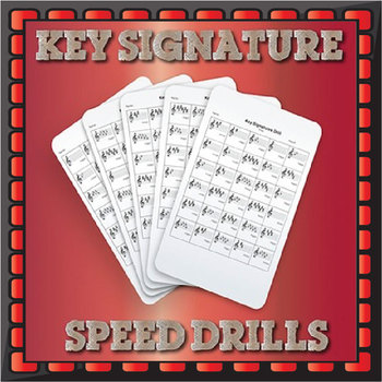 Key Signatures Drills - Treble Clef