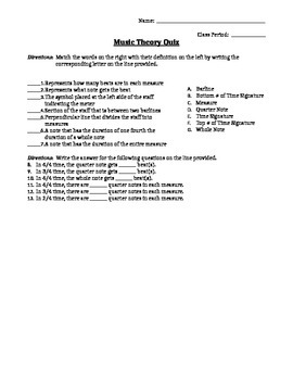 Music Theory Quiz - Key Signatures & Note Duration