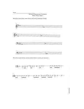 Music Theory Quizzes for High School Musicians