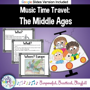 Music Time Travel:  The Middle Ages {Bulletin Board and Vi