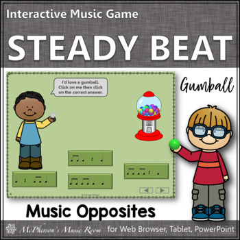 Music Time with Steady Beat Interactive Music Game (gumball)