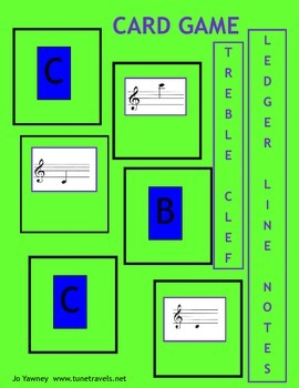 Music: Treble Clef Ledger Lines Card Game
