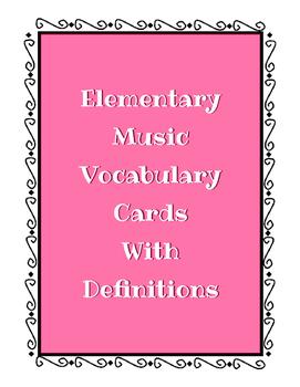 Music Vocabulary