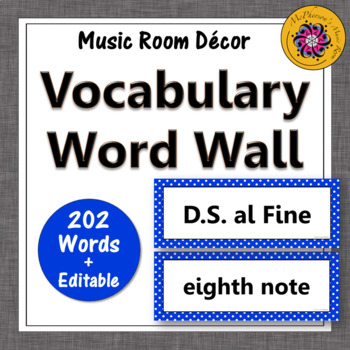 Music Word Wall {blue}