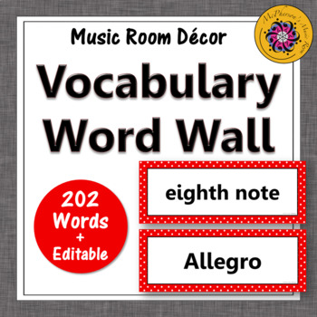 Music Word Wall {red}