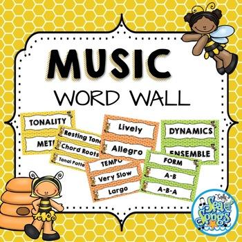 Music Word Wall - Busy Bee Kids