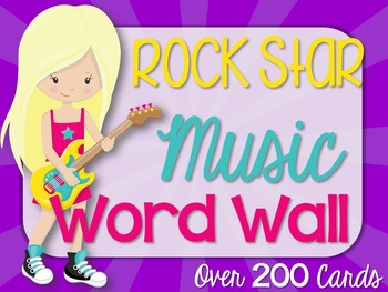 Music Word Wall {Color Burst/Rock Star Theme}