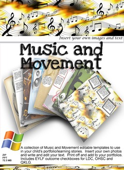 Music and Movement Editable Pack