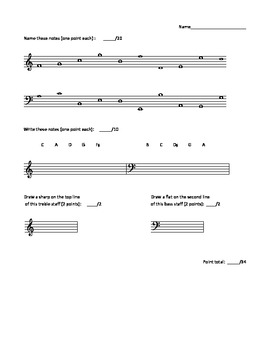 Music assessment
