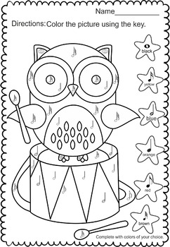 Music coloring  (3 review activities)