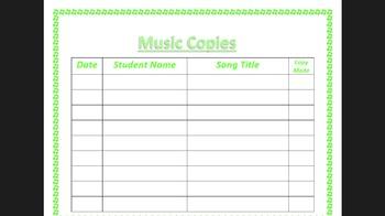 Music copies template choir
