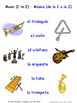 Music in Spanish Matching Activities