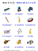 Music in Spanish Word searches / Wordsearches