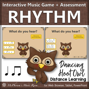 Music is a Hoot! Interactive Rhythm Game + Assessment {Eig