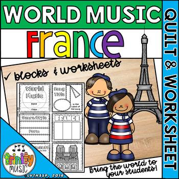 Music of France Quilt & Worksheet (World Music)