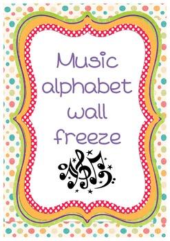 Music room alphabet freeze
