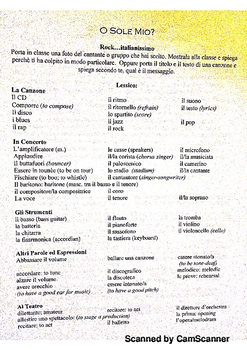 Musica in italiano  Vocabulary with music and opera
