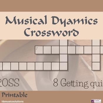 Musical Dynamics Crossword
