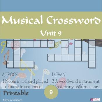 Musical Crossword Unit 9