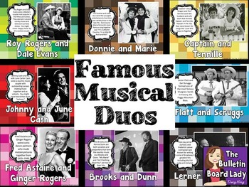 Musical Duos Bulletin Board
