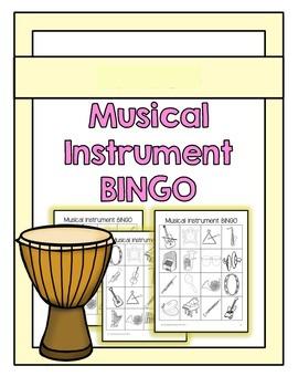 Musical Instrument Bingo {No Prep, Print and Go}