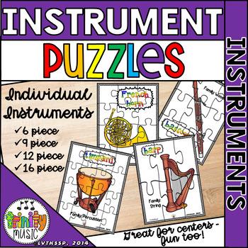 Musical Instrument (Individual Pictures) Puzzle Set