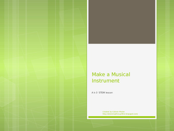 Musical Instrument STEM Activity