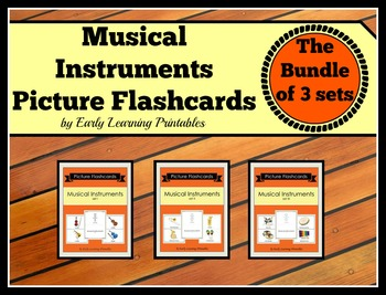 Musical Instruments BUNDLE (Set I, II, III) Picture Flashcards