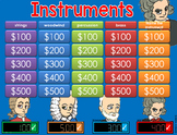 * Musical Instruments GAME SHOW - interactive ppt