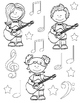 Musical Instruments Mini Coloring Book