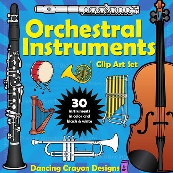Musical Instruments: Orchestra Instruments Clip Art