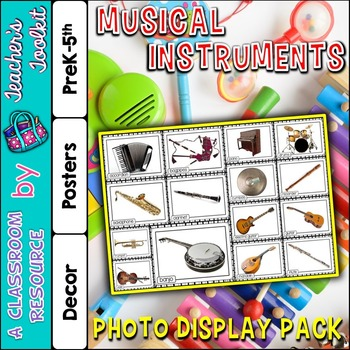 Musical Instruments Photo Poster Display Pack {UK Teaching