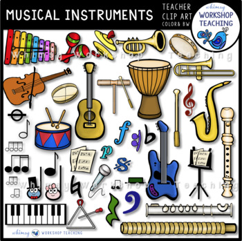 Musical Instruments and Notes Bundle - Whimsy Workshop Teaching
