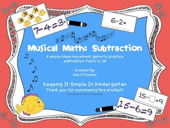 Subtraction Musical Math: A math movement game for the who
