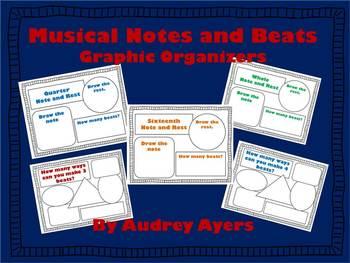 Musical Note Graphic Organizers - Smart Board Interactive