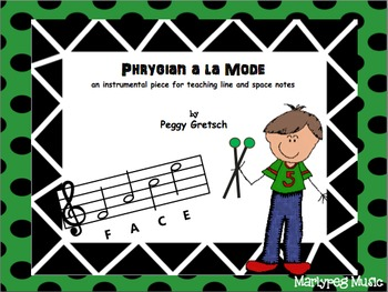 Orff arrangement for teaching lines and space note names/s