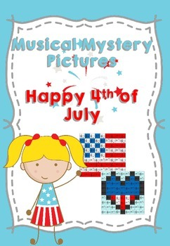 Musical Notes Mystery Picture (Happy 4th of July)