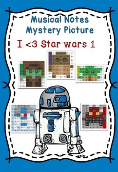 Musical Notes Mystery Picture (I love Star Wars 1)