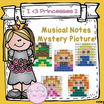 Musical Notes Mystery Picture (I love princesses set 2)