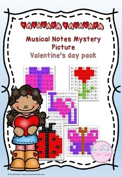 Musical Notes Mystery Picture (Valentine's Day Pack)