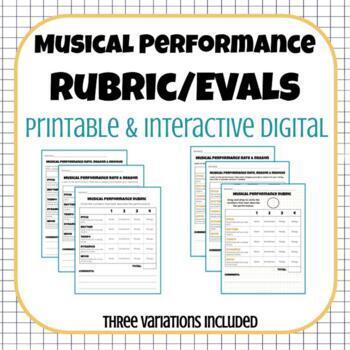 Musical Performance Rubric