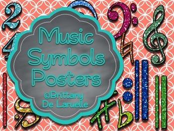 Musical Symbols Posters - Color, black & white, PLUS edita