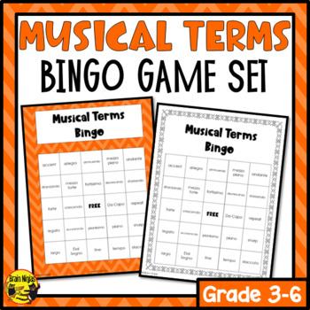 Musical Terms Bingo Game
