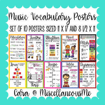 #haveaheartmusic Musical Vocabulary Posters Bundle (Set of 10)