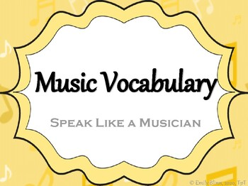 Musical Vocabulary with Spanish Translations Anchor Chart