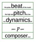 Musical Word Wall With Meanings