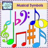Musical clipart {Music elements clip art}
